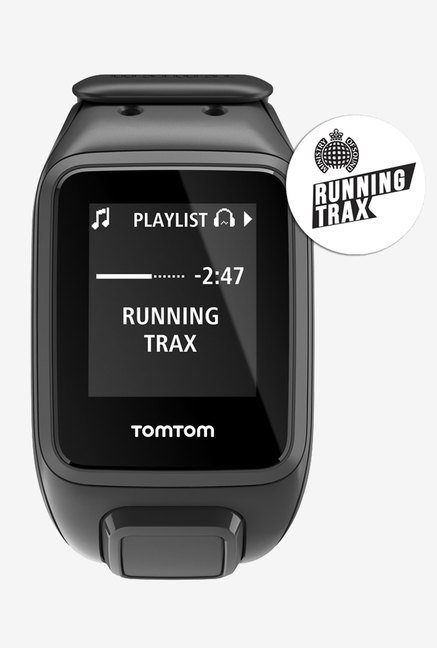 TomTom Spark Music GPS Fitness Watch Black (Large)