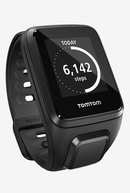 TomTom Spark Cardio + Music GPS Fitness Watch (Black, Large)