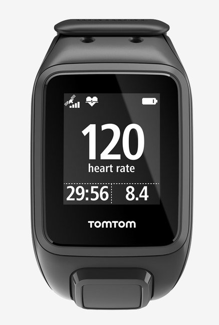 TomTom Spark Cardio + Music GPS Fitness Watch (Black, Small)