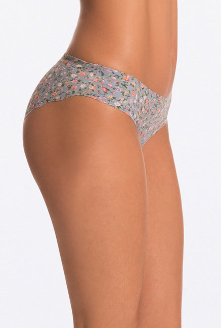 Pretty Secrets Grey Floral Invisi-Hipster Panty