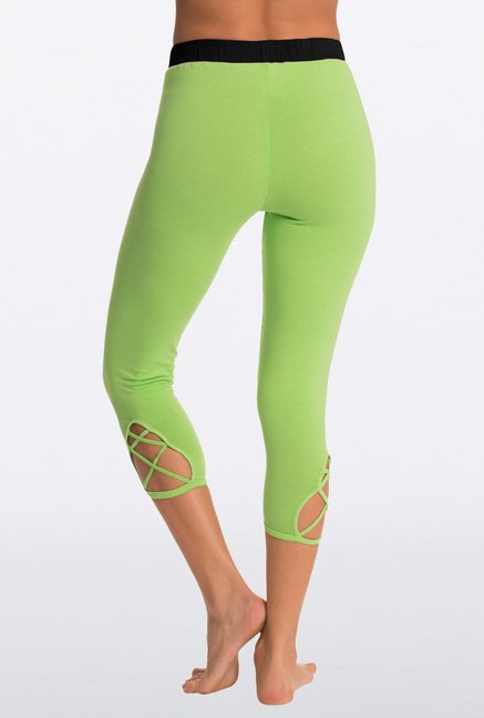 Pretty Secrets Green Solid Capris