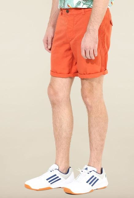 Jack & Jones Orange Solid Shorts
