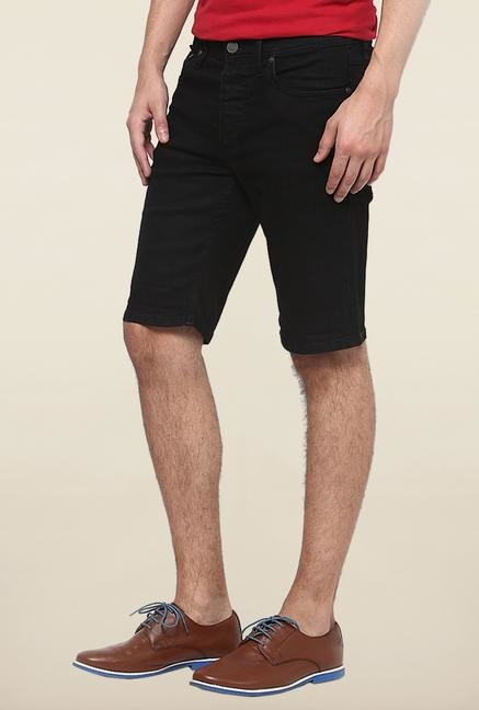 Jack & Jones Black Solid Shorts
