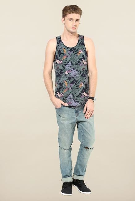 Jack & Jones Black Floral Printed Vest