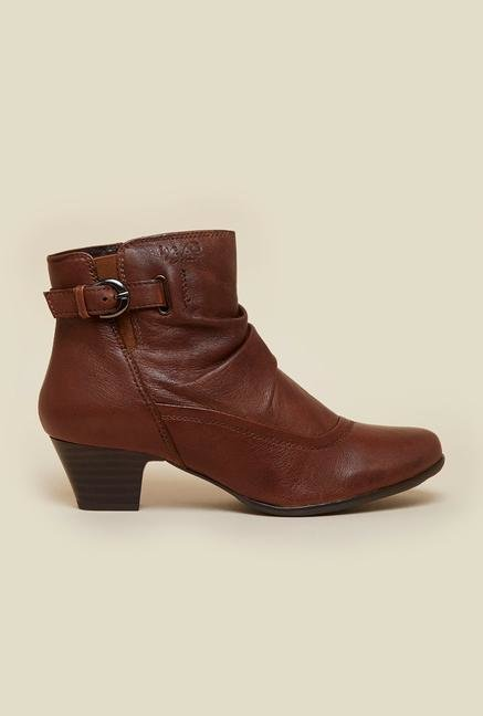La Briza Brown Ankle Strap Boots