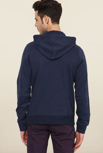 Jack & Jones Navy Cotton Hoodie