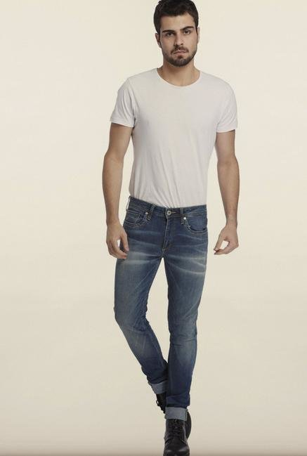 Jack & Jones Denim Blue Lightly Washed Jeans