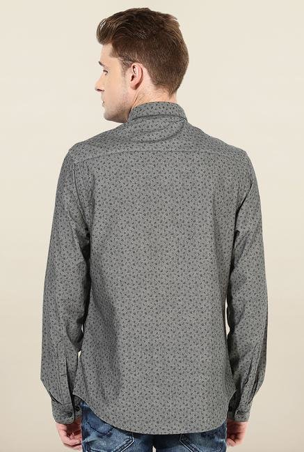 Jack & Jones Dark Grey Printed Shirt