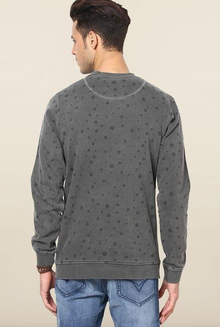 Jack & Jones Grey Printed Sweatshirt