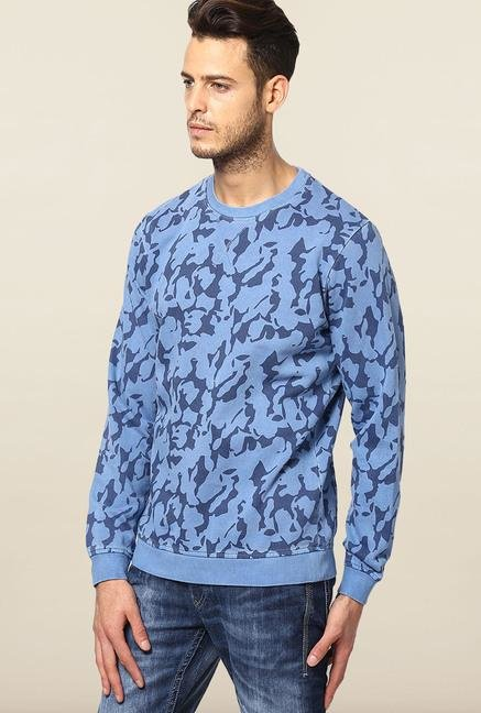 Jack & Jones Blue Printed Sweatshirt