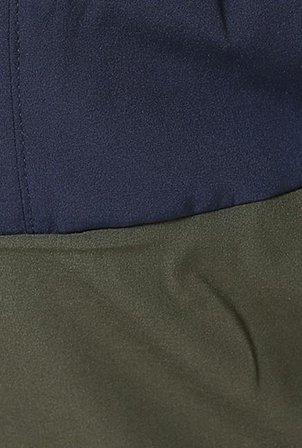 Jack & Jones Green Solid Sports Shorts