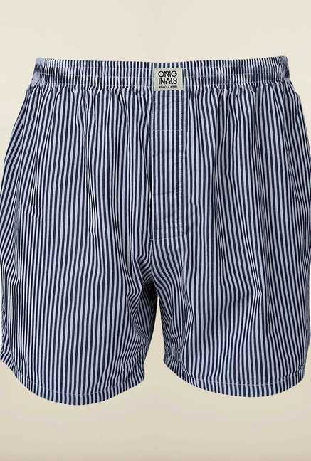 Jack & Jones Blue Striped Boxer
