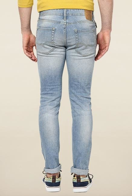 Jack & Jones Blue Ripped Slim Fit Jeans