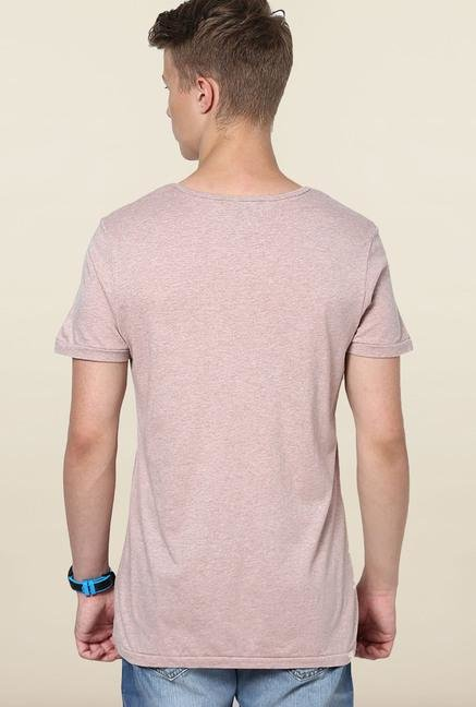 Jack & Jones Cafe Cream Printed T-Shirt