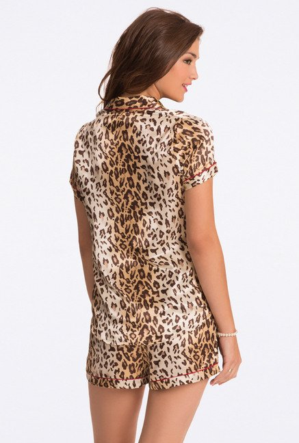 Pretty Secrets Brown Animal Print Cami & Shorts Set