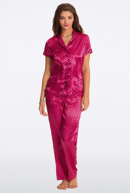 Pretty Secrets Pink Polka Dot Top & Pyjama Set