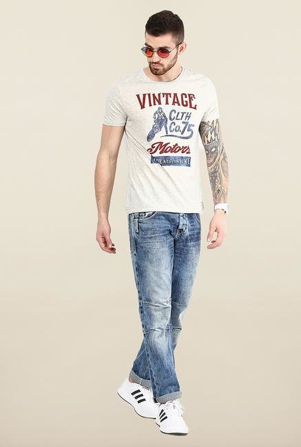 Jack & Jones Blue Mid Rise Regular Fit Jeans