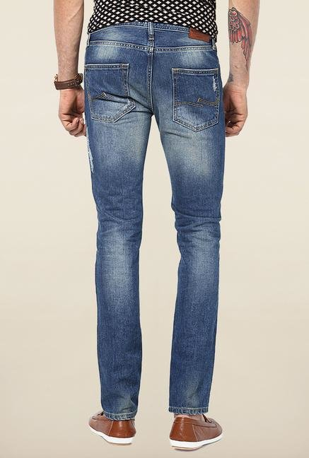 Jack & Jones Blue Slim Fit Mid Rise Jeans