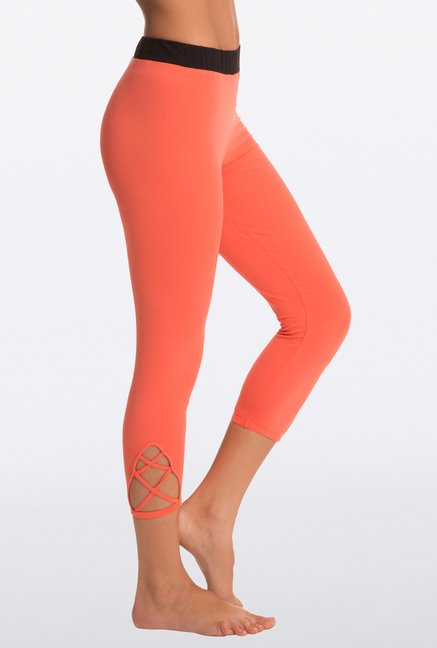 Pretty Secrets Orange Solid Capris
