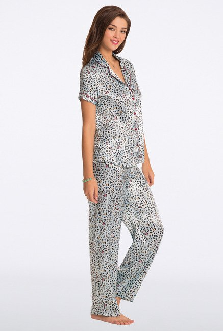 Pretty Secrets Aqua Animal Print Top & Pyjama Set