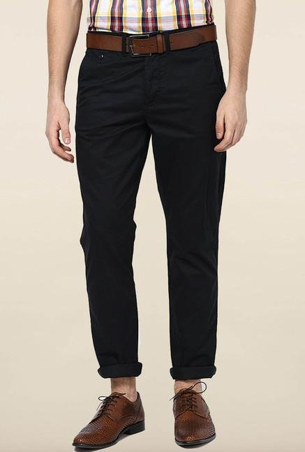 Jack & Jones Black Cotton Chinos