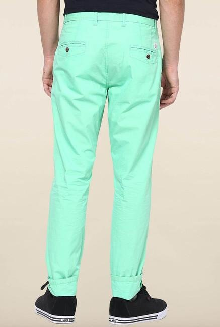 Jack & Jones Turquoise Solid Chinos