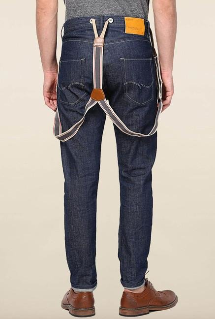 Jack & Jones Blue Solid Slim Fit Jeans