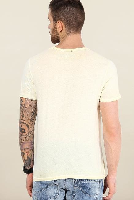 Jack & Jones Beige Printed T-Shirt
