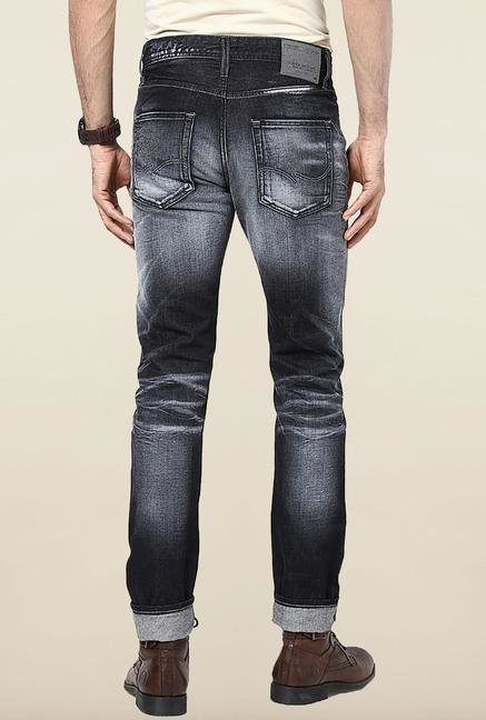 Jack & Jones Black Washed Regular Fit Jeans