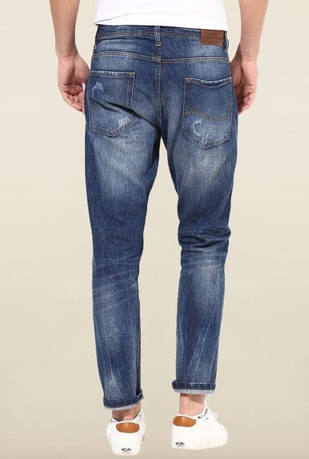 Jack & Jones Blue Distressed Slim Fit Jeans