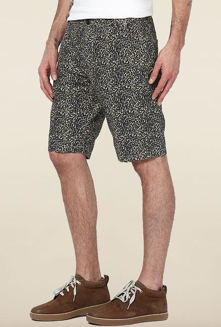 Jack & Jones Beige Animal Print Shorts