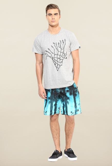 Jack & Jones Blue Printed Shorts