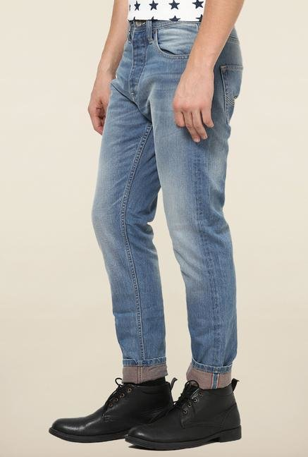 Jack & Jones Blue Washed Slim Fit Jeans