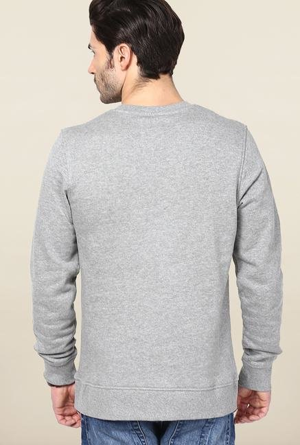 Jack & Jones Light Grey Printed Sweatshirt