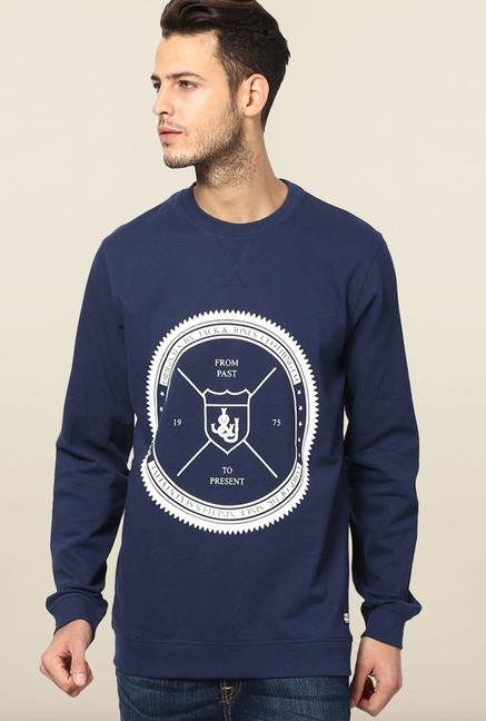 Jack & Jones Dark Blue Crew Neck Sweatshirt