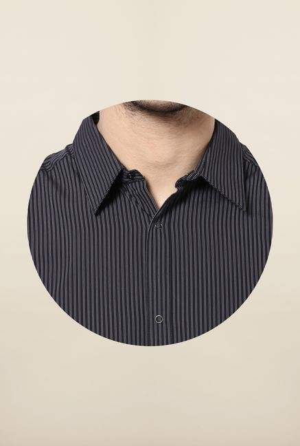 Jack & Jones Black Pin Stripes Casual Shirt