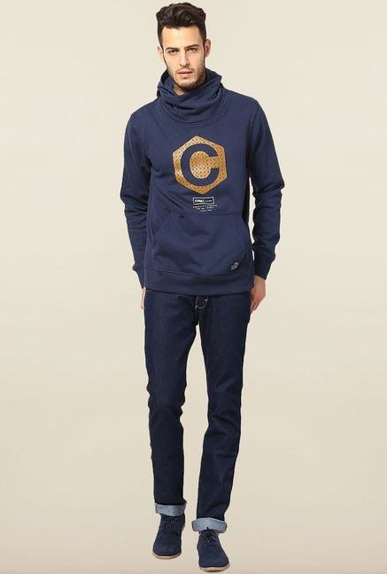 Jack & Jones Dark Blue Printed Hoodie