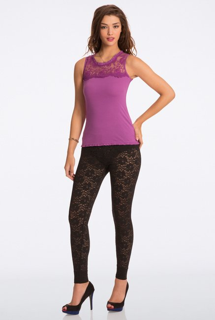Pretty Secrets Flattering Black All Day Lace Leggings