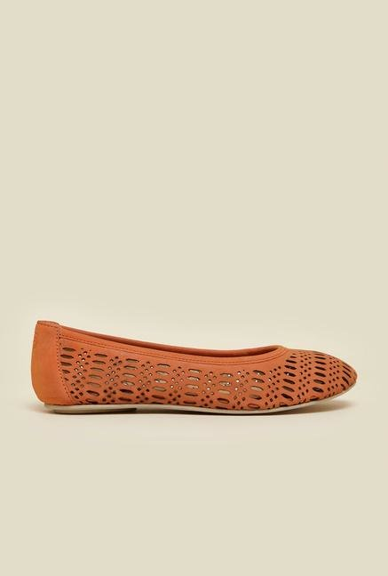 La Briza Orange Flat Ballerinas