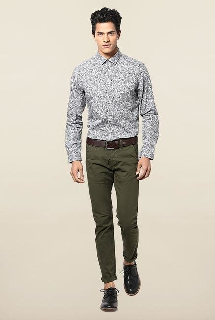Jack & Jones Black And White Paisley Printed Shirt