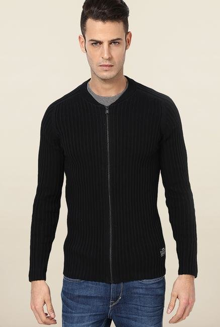 Jack & Jones Black Cotton Sweatshirt