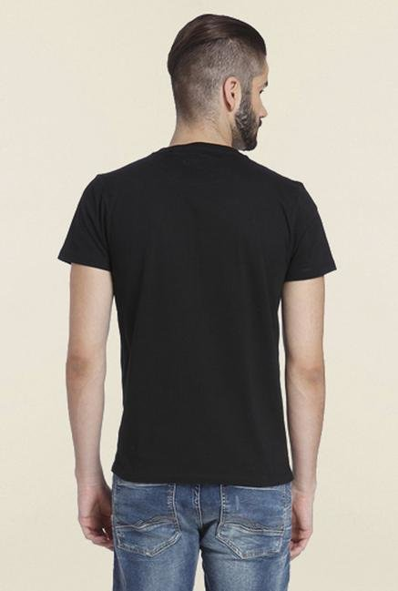 Jack & Jones Black Printed T-Shirt