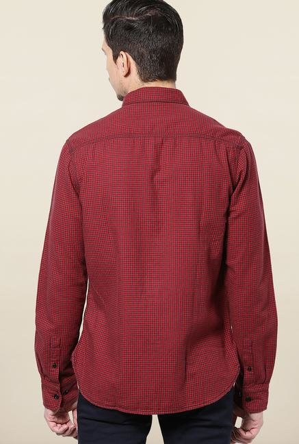 Jack & Jones Red Checks Casual Shirt