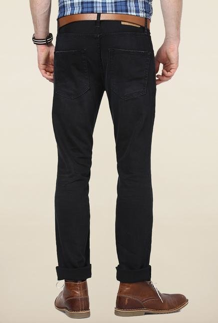 Jack & Jones Black Distressed Slim Fit Jeans
