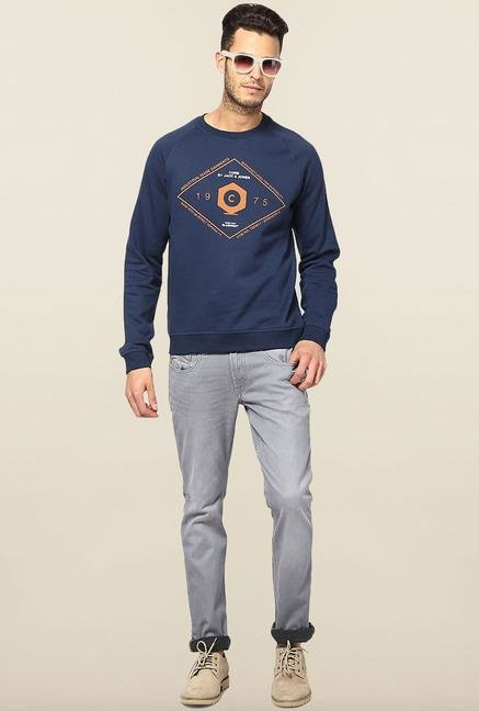 Jack & Jones Dark Blue Printed Sweatshirt