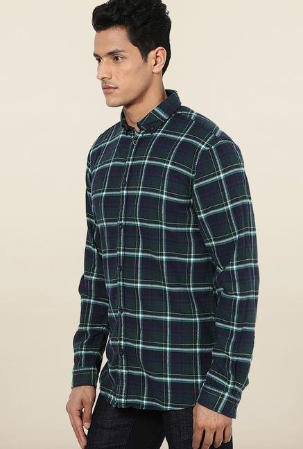Jack & Jones Dark Blue Checks Casual Shirt