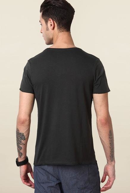 Jack & Jones Black Cotton Slim Fit T-Shirt
