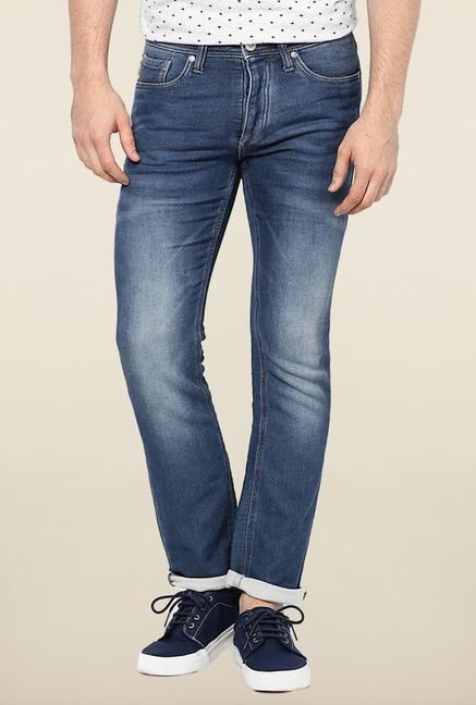 Jack & Jones Blue Washed Solid Jeans