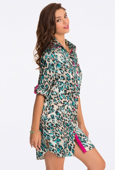 Pretty Secrets Blue Animal Print Sleep Shirt