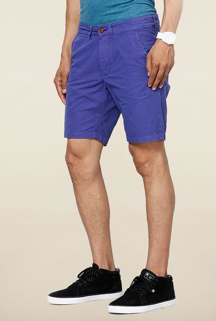Jack & Jones Blue Solid Shorts